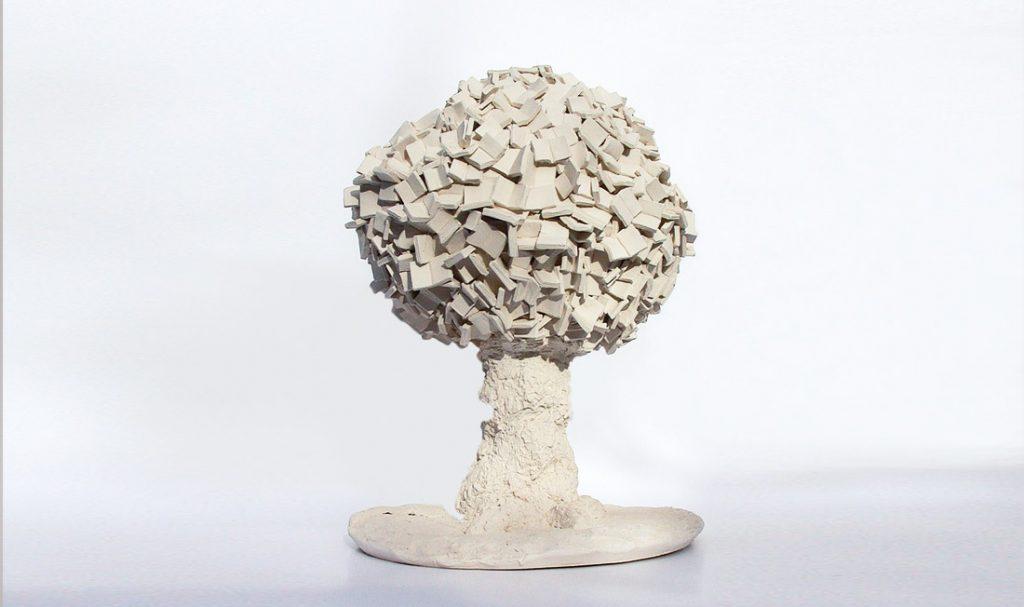 """""""L'arbre à lire"""". Porcelaine."""