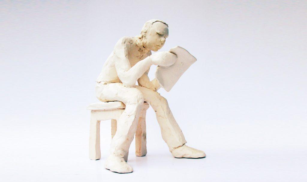 """""""Lecteur"""". Porcelaine."""